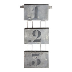Aidan Gray Travail Quatre Office - Forget that pesky IN/OUT box on your desk and hang this vintage modern catch-all rack instead. You can even file things in order of importance from 1 to 3!