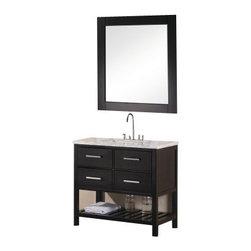 "Design Element - Design Element DEC077A London 36"" Single Sink Vanity Set in Espresso - Design Element DEC077A London 36"" Single Sink Vanity Set in Espresso"