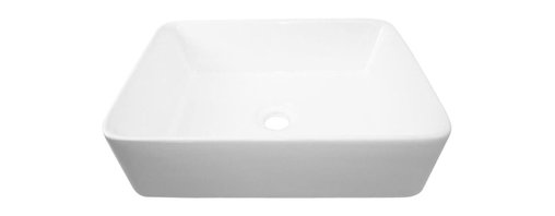 Flotera - Modern Bathroom Marble White Square Ceramic Vessel Sink - Space: Ceramic sinks often offer a smaller surface area, allowing you to have more counter-top space.