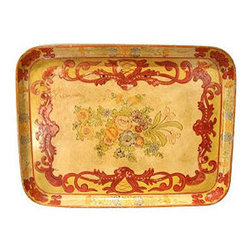 Papier-Mâche Serving Tray - If you are like me, you can't ever have enough trays. I'd prop framed family photos atop this Italian-style one.