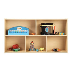 Young Time - Young Time Two Shelf Storage - Toys not included. Two shelves sized just right for children. Provides exceptional storage of toys, books and more. Durable laminate surface. Rounded corners. Thermo-fused edgebanding. Safety tested product. Greenguard Children and Schools SM indoor air quality certified. CPSIA and CARB compliant. Warranty: 1 year. Made in USA. Assembly required. 48 in. W x 12 in. D x 26.5 in. H (48 lbs.)Young Time is for budget-minded buyers seeking to get the most for their classroom furniture dollar. Young Time offers affordable, American-made early learning furniture designed with a focus on the functionality you need most!