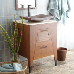 Native Trails - Native Trails | Trinidad 24-Inch Vanity Suite - Made by Native Trails.The Trinidad 24-inch Vanity Suite combines premium craftsmanship with sustainable practices in this all-in-one set. The bamboo vanity and recycled copper sink are hand-crafted by artisans for long-lasting durability. The polished marble countertop holds an artisan-made vessel sink with a unique texture and design. The complementary mirror with copper-hammered frame adds the finishing touch to your bathroom space. Product Features: