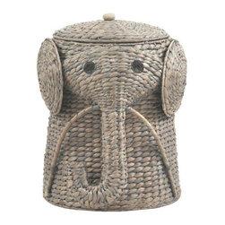 Shop sedona gray hamper laundry products on houzz - Elephant laundry hamper ...