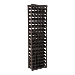Wine Racks America - 5 Column Standard Wine Cellar Kit in Redwood, Black + Satin Finish - Growing wine bottle collections fit nicely in this 5 column design. Rock solid fabrication in pine or redwood materials makes wine storage a stress free hobby. Whether beginning or expanding your wine cellar, these racks are sure to please. We guarantee it.