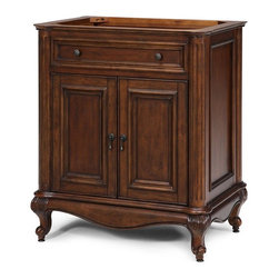 "Xylem - Xylem-V-MANOR-30BN Manor 30"" Vanity in Distressed Maple - Xylem-V-MANOR-30BN Manor 30"" Vanity in Distressed MapleXylem is a brand of Xylem Group, LLC that designs and manufactures a diverse selection of product for the bath, including vanities, faucets, mirrors, and sinks in traditional, transitional, and contemporary styles.  Xylem's Manor vanity is an early American design with distressed features and hand carved wood accents. Xylem-V-MANOR-30BN Manor 30"" Vanity in Distressed Maple, Features:• 30"" Manor Vanity"