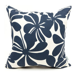 Majestic Home - Outdoor Navy Blue Plantation Large Pillow - Add a splash of color and a little texture to any environment with these great indoor/outdoor plush pillows by Majestic Home Goods. The Majestic Home Goods Large Pillow will add additional comfort to your living room sofa or your outdoor patio. Whether you are using them as decor throw pillows or simply for support, Majestic Home Goods Large Pillows are the perfect addition to your home. These throw pillows are woven from Outdoor Treated polyester with up to 1000 hours of U.V. protection, and filled with Super Loft recycled Polyester Fiber Fill for a comfortable but durable look. Spot clean only.