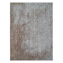 Rug - ~2 ft. x 3 ft. Beige Living Room Door Mat Made In Tibet, Shaggy & Hand-tufted - Living Room Hand-tufted Shaggy Area Rug Door Mat