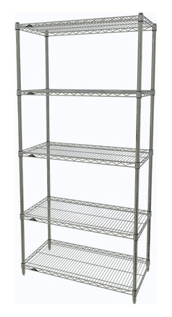 InterMetro Industries - Metro Shelving Unit - 36x18x74 Chrome - As the original wire storage shelving system and still the industry leader, Metro shelving continues to evolve and aims to meet the diversity of todays storage challenges. These professional grade units hold more weight. The five (5) shelves can be positioned, or re-positioned, at precise 1 increments along the length of the posts.  Open wire design minimizes dust accumulation and allows for free circulation of air and greater visibility of stored items. Casters (sold separately) available for mobile applications. This post-based shelving system, created in 1965, is recognized worldwide as the most popular commercial shelving system ever.  Assembly required