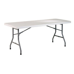 "Office Star Products - 6' Resin Multi Purpose Table - 6' Resin Multi Purpose Table; Series: Folding Resin Multi Purpose; Color: Resin; Materials: Resin; Durable Construction; Light Weight Sleek Design; Powder Coated Tubular Frame; Ideal for Indoor or Outdoor Use; Easy Storage; Meets or Exceeds Test Standards (BIFMA and MTL); Dimensions: 72""W x 30""D x 29.25""H"