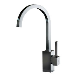 WS Bath Collections Domino Kitchen Sink Mixer