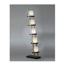 Nova Lighting - Nova Lighting 11815 60.5 Inch Floor Lamp with Frosted Glass Shades from the Esca - 60.5 Inch Contemporary / Modern Floor Lamp with Frosted Glass Shades from the Escalier CollectionFeatures: