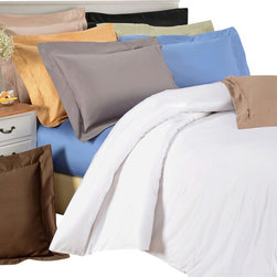 Bed Linens - Egyptian Cotton 1500 Thread Count Solid Duvet Cover Sets Full/Queen Gold - 1500Thread Count Solid Duvet Cover Sets