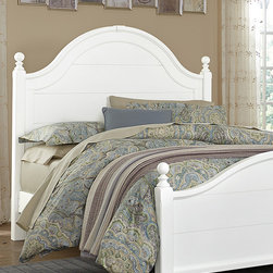 Virginia House - Parisian Poster Bed - Elegantly styled with gentle arches and subtle wood-worked details, this finely-crafted bed offers night after night of restful sleep while enhancing the décor with countryside-chic style.   Mattress and bedding not included Wood / cherry veneer Made in the USA