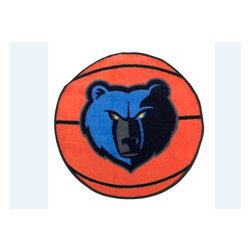 Fanmats - NBA Memphis Grizzlies Rug Basketball Shaped Mat - FEATURES: