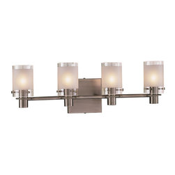 "Kovacs - Kovacs GK P5004 4 Light 22.5"" Wide Bathroom Fixture from the Chimes Collection - George Kovacs P5004 Four Light Bathroom Fixture from the Chimes Collection"