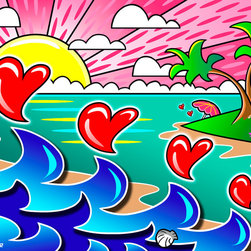 Murals Your Way - Lover's Beach Wall Art - Painted by Chuck  Trunks, Lover's Beach wall mural from Murals Your Way will add a distinctive touch to any room