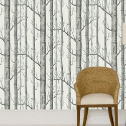 Cole & Son - Woods 12147 Wallpaper - For when you want your walls to look like the poems that Robert Frost and Walt Whitman wrote about, the luxurious, modern Woods 12147 Wallpaper by Cole & Son is perfect for you. The modern wallpaper features a bold, large scale design with rich, modern colorings. Cole & Son is the definitive source of high-art, luxury wallpaper design and printing. Not only is Cole & Sons wallpaper found in places like the White House and Buckingham Palace, but the traditional printing methods from 1875 yielding unique and rich textures that their craftsmen still hold onto, combined with the contemporary adaptations and coloring that their Design Studio provides to their archive of approximately 1,800 block print designs, 350 screenprint designs and a huge quantity of original drawings and wallpapers, representing all the styles from the 18th, 19th and early 20th centuries, have top designers like Tom Dixon, Pierro Fornasetti, and Vivienne Westwood all boasting collaborative collections with them.