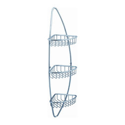 Fresca - Fresca Magnifico 3 Tier Corner Wire Basket - Chrome - All of our Fresca bathroom accessories are made with brass with a triple chrome finish and have been chosen to compliment our other line of products including our vanities, faucets, shower panels and toilets.  They are imported and selected for their modern, cutting edge designs.