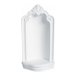 Renovators Supply - Niches White Urethane Corner Wall Niche 23 1/2 H x 11 1/2 W | 13766 - Wall Niches Corner Wall Mount: Made of virtually indestructible high-density urethane our wall niches are cast from steel molds guaranteeing the highest quality on the market. High-precision steel molds provide a higher quality pattern consistency, design clarity and overall strength and durability. Lightweight they are easily installed with no special skills. Unlike plaster or wood urethane is resistant to cracking, warping or peeling.  Factory-primed our wall niches are ready for finishing. Measures 23 1/2 inch high x 11 1/2 inch wide x 7 1/2 inch projection
