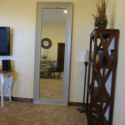 """Superstition Manor Wedding & Event Hall - A gorgeous leaning mirror for the bridal party's final once over before heading out for the wedding. (Specs: 6"""" Aspen profile 25"""" x 94"""" int dim 37"""" x 106"""" ext dim)"""