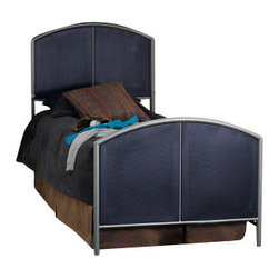 Hillsdale Furniture - Hillsdale Universal Loft Study Center Bunk Bed - The silver and navy Universal Youth bedroom offers super solutions for any kids room, whether you choose the traditional bed, the bookcase headboard with under bed storage, the loft bed or bunk beds. Add any combination of case goods to create the perfect home base for your child, tween or teen.