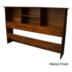 EpicFurnishings - Scandinavia Solid Wood Bookcase Headboard - Add a finishing touch to your bedroom,as well as more shelf space,with the solid wood bookcase headboard. Made for any decor,this versatile headboard keeps books,clocks,or anything you need or want close at hand without taking up precious floor space