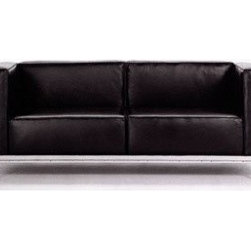 Le Corbusier - Le Corbusier 2 Seat Sofa Article 922 - This sofa was designed by Le Corbusier in 1929. The classic design is available with leather, synthetic leather or synthetic suede cushions and a chrome frame.
