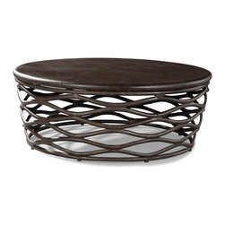 """LaneVenture Outdoor Patio Furniture - LaneVenture Industrial Renaissance 48"""" Round Cocktail Table - LaneVenture is an innovative manufacturer of premium all-weather wicker and fully-upholstered outdoor furniture. LaneVenture does an amazing job of blending indoor styling with outdoor durability and has long been known for producing some of the most comfortable and fast-drying cushions in the casual furniture industry. LaneVenture is a favorite of Interior Designers while the South Hampton collection has been one of our best selling groups. http://www.authenteak.com/lane-venture.html"""