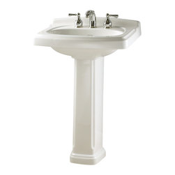 "American Standard - Townsend Vitreous China Pedestal Bathroom Sink Combo with 8"" Centers in White - American Standard 0555.801.020 Townsend Vitreous China Pedestal Bathroom Sink Combo with 8"" Centers in White. Engineered to provide durability and an elegant appearance, this American Standard Townsend Vitreous China Pedestal Bathroom Sink Combo in White boasts a vitreous china construction and crisp white finish. The combo features 8 in. faucet drillings for widespread faucet applications (faucet sold separately) to achieve your desired look.American Standard 0555.801.020 Townsend Vitreous China Pedestal Bathroom Sink Combo with 8"" Centers in White, Features:Vitreous china material provides added durability and is easy to clean for reduced maintenance"