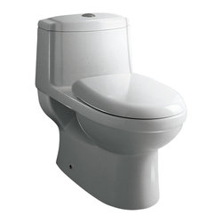 "Atlas International Inc - Toilet - Ariel Platinum Contemporary One Piece ""Anna"" (White) - Modern Eco-Friendly One Piece White toilet. Ariel cutting-edge designed one-piece toilets with powerful flushing system. It's a beautiful, modern toilet for your contemporary bathroom remodel."