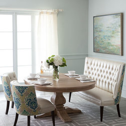Haute House Taylor Pedestal Dining Table & Tiffany Seating -