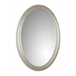 Uttermost - Uttermost Franklin Oval Silver Mirror - Uttermost Franklin Oval Silver Mirror is a Part of Mirrors Collection by Uttermost Oval mirror features an antique silver leaf finish. Wall Mirror (1)