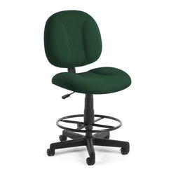 Skutchi - Superchair With Drafting Kit - Green - POSTURE TASK CHAIR - GRAY