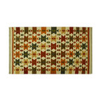 4'X6' Oriental Rug, Anatolian Kilim Reversible 100% Wool Flat Weave Rug SH6422 - Soumaks & Kilims are prominent Flat Woven Rugs.  Flat Woven Rugs are made by weaving wool onto a foundation of cotton warps on the loom.  The unique trait about these thin rugs is that they're reversible.  Pillows and Blankets can be made from Soumas & Kilims.