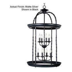 Maxim - Maxim 7114MS Cage 8 Light 2 Tier Cage Chandelier - Product Features: