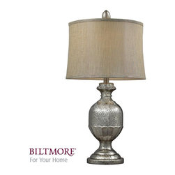 Dimond Lighting - D2238-LED Emma Table Lamp, Antique Mercury Glass - Traditional Table Lamp with Antique Mercury Glass glass from the Emma Collection by Dimond Lighting.