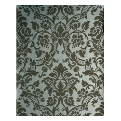 Kenneth James - Isis Brown Paisley Damask Wallpaper - Wrap your favorite traditional settings in darling damask. An age-old treasure, this beautiful brown damask wallpaper has a pewter background, making it a stylish choice for your sophisticated dining room or sitting room.