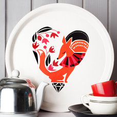 Contemporary Serving Dishes And Platters by Darling Clementine
