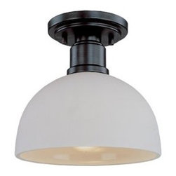 Z-Lite 314F-B Semi Flush Ceiling Light - This light fixture with a simple design would look amazing above the desk. I would hang a few of these from the ceiling in the office.