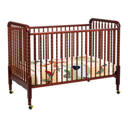DaVinci - DaVinci Jenny Lind 3-in-1 Crib in Cherry - This wooden DaVinci Jenny Lind crib features a convenient three-in-one design that allows it to be converted into a daybed when your little one is too big for a crib. Finished in a beautiful rich cherry hue,this hardwood bed is completely timeless.