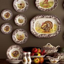 Spode - Four Woodland Turkey Salad Plates - SpodeFour Woodland Turkey Salad Plates
