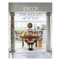 "ABRAMS - Elle Decor: The Height of Style: Inspiring Ideas from the World's Chicest Rooms - This book showcases more than 220 stunning rooms selected by the editors of ELLE DECOR, the magazine that is the last word on exciting, cutting-edge, and eclectic style from around the world. A must for any decorating and design buff, it shows readers how to bring the flair, glamour, and individuality of the world's chicest spaces into their own homes. The rooms, which range from extravagant living spaces to sleek, state-of-the-art kitchens, baths, and dressing rooms, are organized into distinctive yet reader-friendly categories: ""Classical,"" ""Fanciful,"" ""Functional,"" and ""Personal."" ""What the Pros Know,"" which occurs throughout the pages, presents insights, ideas, and practical advice from top interior designers, architects, and homeowners. Every chapter also incorporates ""Anatomy of a Room""—in which the magazine's editors explain how to make the inspiring ideas a reality. Packed with beautiful color images by today's top interiors photographers, straightforward tips, and ingenious pointers from top design talents Steven Gambrel, Kelly Wearstler, and a host of others, The Height of Style brings the magazine's distinctive, of-the-moment mix of culture, design, and fashion right into your living room."
