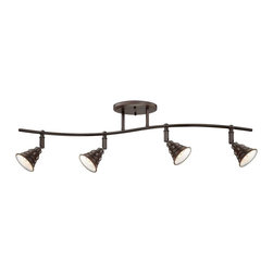Quoizel - Quoizel 4-Light Eastvale Ceiling Track Light in Palladian Bronze - EVE1404PN - The Eastvale series pairs a vintage industrial look with modern sensibility. Attention to fine details and a rich palladian bronze finish allow this distinctive fixture suit a variety of interior design styles.