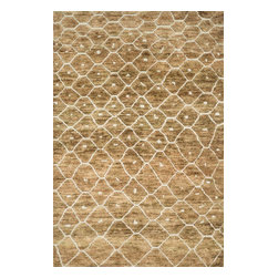 Loloi Rugs - Loloi Rugs Sahara Collection - Elmwood, 2' x 3' - If it's a stylish statement you seek to make, then we have the rug for you. From India, the Sahara Collection updates living areas with a fresh take on nomadic, Moroccan inspired rugs. Sahara is hand knotted with two different fibers - jute and wool- the later forms the ethnic patterns in each design. Available in traditional off-whites and gorgeous blues.