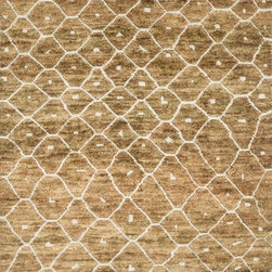 Loloi Rugs - Loloi Rugs Sahara Collection - Elmwood, 4' x 6' - If it's a stylish statement you seek to make, then we have the rug for you. From India, the Sahara Collection updates living areas with a fresh take on nomadic, Moroccan inspired rugs. Sahara is hand knotted with two different fibers - jute and wool- the later forms the ethnic patterns in each design. Available in traditional off-whites and gorgeous blues.