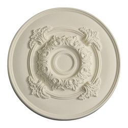 uDecor - MD-5136 Ceiling Medallion - Ceiling medallions and domes are manufactured with a dense architectural polyurethane compound (not Styrofoam) that allows it to be semi-flexible and 100% waterproof. This material is delivered pre-primed for paint. It is installed with architectural adhesive and/or finish nails. It can also be finished with caulk, spackle and your choice of paint, just like wood or MDF. A major advantage of polyurethane is that it will not expand, constrict or warp over time with changes in temperature or humidity. It's safe to install in rooms with the presence of moisture like bathrooms and kitchens. This product will not encourage the growth of mold or mildew, and it will never rot.