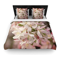 """Kess InHouse - Angie Turner """"Apple Blossoms"""" Pink Flower Cotton Duvet Cover (Twin, 68"""" x 88"""") - Rest in comfort among this artistically inclined cotton blend duvet cover. This duvet cover is as light as a feather! You will be sure to be the envy of all of your guests with this aesthetically pleasing duvet. We highly recommend washing this as many times as you like as this material will not fade or lose comfort. Cotton blended, this duvet cover is not only beautiful and artistic but can be used year round with a duvet insert! Add our cotton shams to make your bed complete and looking stylish and artistic!"""