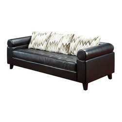 Armen Living - Armen Living Vasken Bonded Sofa Multicolor - LC3033BLACK - Shop for Sofas and Loveseats from Hayneedle.com! The Armen Living Vasken Bonded Sofa attends to all the details of comfort with sophisticated style and more than enough padding to make the day's stresses a distant memory. Its sturdy wood frame supports a large tufted seat surrounded by a pillowy armrest that wraps all the way around. Its bonded leather upholstery is not only soft to the touch but incredibly easy to clean and maintain for years to come.About Armen LivingImagine furniture without limits - youthful robust refined exuding self-expression at every angle. These are the tenets Armen Living's designers abide by when creating their modern furniture collections. Building on more than 30 years of industry experience Armen Living combines functional versatility and expert craftsmanship into their dramatic furniture styles all offered at price points fit for discriminating budgets. Product categories include bar stools club chairs dining tables ottomans sofas and more. Armen Living is based in Sun Valley Calif.