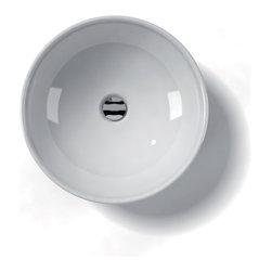 "WS Bath Collections - LVO 500 Vessel Sink 17.7"" - Ceramica by WS Bath Collections 17.7 � x 5.9 Above The Counter Bathroom Sink/ Washbasin in ceramic white"