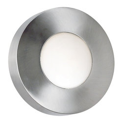 """Lamps Plus - Contemporary Burst Aluminum 12"""" High Round Outdoor Ceiling or Wall Light - With a clean polished aluminum finish this clean modern design is stylish and versatile. Choose between cobalt blue glass shade or white opal to redefine your space. On a porch entryway near stairs indoors or outside this light is impressive. Aside from the main center light Rays of Light are thrown from the back-light making this an accent piece. The geometric simplicity and soothing light is interesting but not obtrusive. Polished aluminum finish. White opal glass shade AND cobalt blue glass shade. Wall or ceiling mounted. Indoor or outdoor use. Includes one 75 watt JDE-11 bulb. 12"""" Diameter. Extends 5"""" from wall.  Polished aluminum finish.   White opal glass shade AND cobalt blue shade.   Wall or ceiling mounted.  Indoor or outdoor use.    Damp location rated only.  Includes one 75 watt halogen bulb.  12"""" diameter.   Extends 5"""" from wall.     Rays of Light back-light feature."""